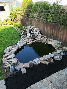 pond stone work