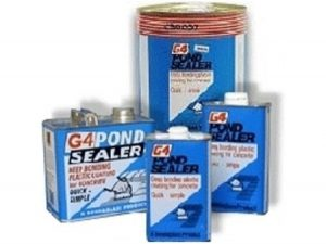 g4 for sealing concrete pond leaks